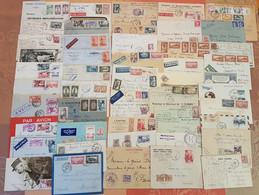 Maroc - Lot De 50 Lettres - Affranchissements Intéressants - DEPART 1 EURO - - Briefe U. Dokumente