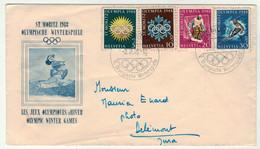Jux Olympiques // Hiver 1948 // St.Moritz // Lettre Pour Délémont - Invierno 1948: St-Moritz