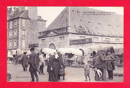 F-50-Coutances-05A97  La Halle Aux Grains, Ancienne église Des Capucins, Animation, Cpa BE - Coutances