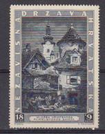 Croatie 1943 Yvert 104A ** Neuf Sans Charniere Avec Surcharge Rouge - Croatie