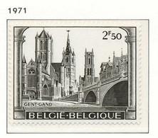 NB - [150922]SUP//**/Mnh-[1594] Belgique 1971, Monuments De Gent, Cathédrale, SNC - Kirchen U. Kathedralen