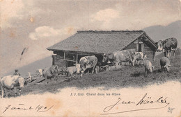 Chalet Dans Les Alpes - Armailli - Troupeau De Vaches - Alpage - Suisse Romande - Envoyée Depuis L'Etivaz - Bauern