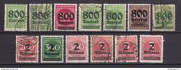 Deutsches Reich - 1923 - Michel Nr. 301/306 A + 308/312 A - Gestempelt/Ungebr. - Oblitérés