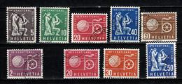 Helvetia 1956/1960 Yv 369/74, 411/13,  Used - Dienstpost