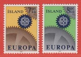 1967 ** Islande  (sans Charn., MNH, Postfrish)  Yv  364/5Mi  409/10FA  446/7 - Ungebraucht