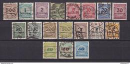 Deutsches Reich - 1923 - Michel Nr. 313/330 - Gestempelt/Ungebr. - Oblitérés