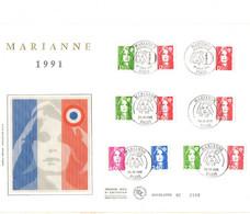 ENVELOPPE GRAND FORMAT MARIANNE 91 - 1990-1999