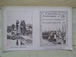 1920  Protège-cahier Neuf Schrijfboek Officiers à Steenstraete Canon Pièce De 380 Mm Tirait Sur Dunkerque Leugenboom - Ieper