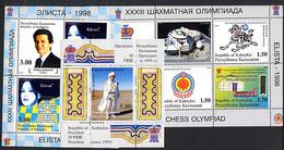 KALMOUKIE KALMYKIA 1998 , ECHECS CHESS OLYMPIAD ELISTA, 3 Feuillets = 11 Valeurs, Neufs / Mint. R1121 - Zonder Classificatie