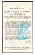 DP Rosalie P. Maelbrancke Malbrancke ° Reninge Lo-Reninge 1861 † Vlamertinge Ieper 1936 X Jules Bondue - Andachtsbilder