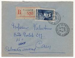 FRANCE - Env. Recommandée Affr. 50F Général Ferrié - Biarritz - 8/9/1949 - Lettres & Documents