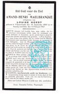 DP Amand H. Maelbrancke Malbrancke ° Vlamertinge Ieper 1860 † 1927 X Louise Hoedt - Andachtsbilder