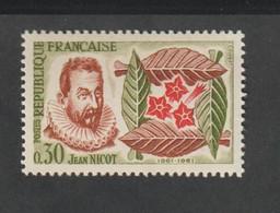 ANNÉE -  1961 -   N° 1286 - 4 éme Centenaire De L'introduction Du Tabac  -   Neuf Sans Charnière - Unused Stamps