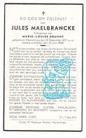 DP Jules Maelbrancke Malbrancke ° Vlamertinge Ieper 1871 † 1944 X ML. Druant - Andachtsbilder