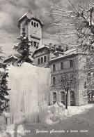 ASIAGO-VICENZA-FONTANA GHIACCIATA E TORRE CIVICA-CARTOLINA VERA FOTOGRAFIA- VIAGGIATA NEL 1961 - Vicenza