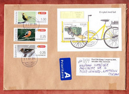 Grossbrief, Block Europa Fahrrad U.a., Tilst Nach Leonberg 2014 (98131) - Cartas