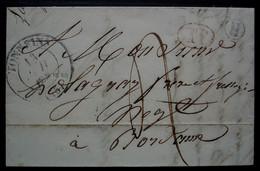 Le Mas (d'Agenais, Lot Et Garonne) Boîte Rurale H Et Décime Rural, Cachet De Tonneins 1834, Lettre Pour Bordeaux - 1801-1848: Precursores XIX
