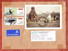 Grossbrief, Block Europa Fahrradfahrer U.a., Brabrand Nach Leonberg 2013 (98132) - Cartas