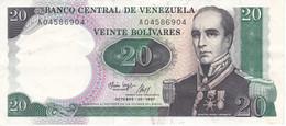 BILLETE DE VENEZUELA DE 20 BOLIVARES DEL AÑO 1987 EN CALIDAD MBC (VF) (BANKNOTE) - Venezuela