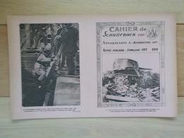 1920 Protège-cahier Schrijfboek Militaria Batterie Allemande Blankenberghe Scaphandrier Yser Répare Digues - Blankenberge