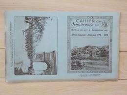 1920 Protège-cahier Schrijfboek Militaria Soldats Et Canons Dans Les Dunes La Panne Soldats Belges Défilent Paris - De Panne