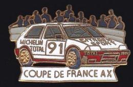 67309- Pin's.Citroen.coupe De France AX.Michelin.Total.signé Démons Et Merveilles. - Citroën