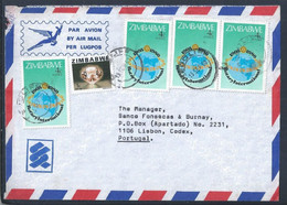 Letter From Zimbabwe With 4 Stamps Of 75th Anniversary Of Rotary International 1980. Morganita Stone. Beryl Mineral. - Rotary, Lions Club
