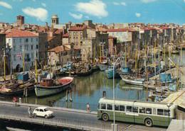 CHIOGGIA-VENEZIA-CANAL SAN DOMENICO-PULMANN-CORRIERA-BUS-CARTOLINA VERA FOTOGRAFIA-VIAGGIATA IL 10-9-1968 - Venezia (Venedig)