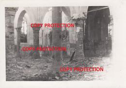 Photo Originale (n° 3), Bombardement Mai 1940 : Eglise De Lessines / Lessen - Lessines