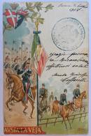 021 CAVALLEGGERI - Reggimenti Cavalleria Italiana Da 5 A 7 - Lancieri Di Aosta - Illustrazione Firmata - Régiments