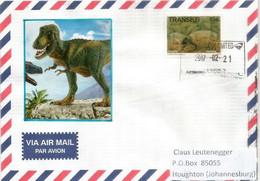 Dinosaure Diictodon , Lettre Envoyée à Johannesburg (Afrique Du Sud) - Prehistorics