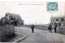 CROISSY-sur-CELLE - La Gare Et Le Bureau De Poste - Clermont