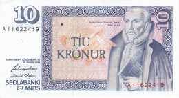 BILLETE DE ISLANDIA DE 10 KRONUR DEL AÑO 1961 SIN CIRCULAR-UNCIRCULATED  (BANKNOTE) - Iceland