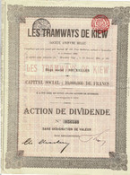 Titre Ancien - Les Tramways De Kiew -  Société Anonyme Belge - Titre De 1905 - N° 056540 - Railway & Tramway