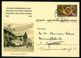 Bildpostkarte - 100 Jahre Eidgenössische Post 1849-1949 Gelaufen RORSCHACH Nach ZÜRICH / BIRMENSDORF - Postwaardestukken