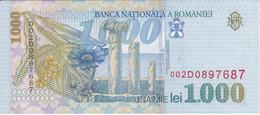 BILLETE DE RUMANIA DE 1000 LEI DEL AÑO 1998 SIN CIRCULAR  (UNCIRCULATED)  (BANKNOTE) - Romania