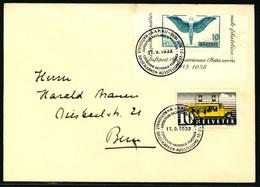 210 Und W10 Blockausschnitt Auf Brief Mit Ausstellungssstempel AARAU 1938 - Blocks & Sheetlets & Panes