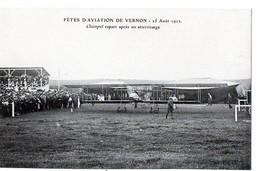 FETES D'AVIATION DE VERNON - 25 Août 1912 - Champel Repart Après Un Atterrissage - Vernon