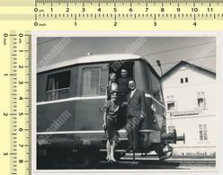 REAL PHOTO Electric Locomotive Train Station Railroad Railway Abstract Gare Yugoslavia Stanica Kovacevac - Trains