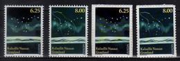2009 Greenland Europa CEPT Astronomy Full Set Of 2v Paper + 2 V S.adhesive MNH** MiNr. 525 - 528 Polar Star, Big Bear - Ongebruikt
