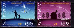 2009 Slovenia Europa CEPT Astronomy MNH** MiNr. 730 - 731 - Slovenia