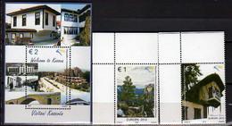 2012 Kosovo Europa CEPT Visits Setof 2v And MS MNH** MiNr. 220 - 222 (Block 21) - 2012