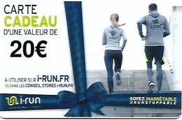 @+ Carte Cadeau - Gift Card : I-Run.fr - 20€ - France - Frankreich