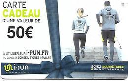 @+ Carte Cadeau - Gift Card : I-Run.fr - 50€ - France - Frankreich