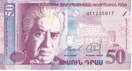 BILLETE DE ARMENIA DE 50 DRAM DEL AÑO 1998 SIN CIRCULAR (UNCIRCULATED)  (BANK NOTE) - Armenia