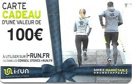 @+ Carte Cadeau - Gift Card : I-Run.fr - 100€ - France - Frankreich