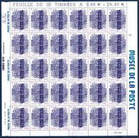 Musée De La Poste Paris Feuille Entière Bordure Spécifique N°5356 à 0.88€ Numéro Ordre 0743 Sur 4000 Daté 15.02.19 TD202 - Feuilles Complètes