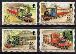 ISLE OF MAN 1988 Manx Railways & Tramways High Value Definitives - Isola Di Man