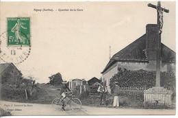 CPA, Spay (Sarthe), Passage à Niveau Du Tramway - Zonder Classificatie