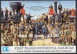ISLE OF MAN 1992 Construction Of Union Pacific Railroad M/S - Isola Di Man
